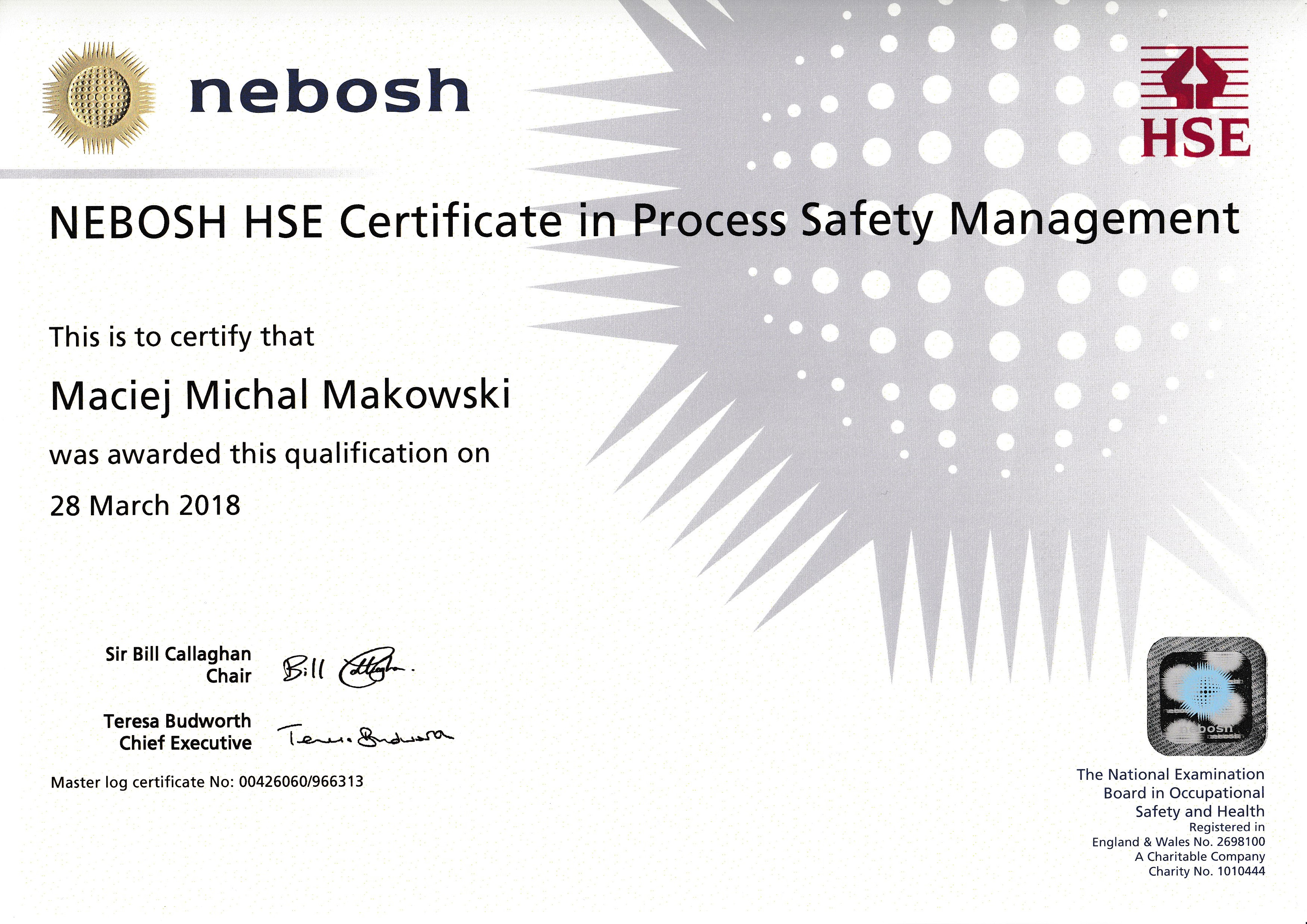 methodology of nebosh diploma unit d The nebosh diploma in occupational health and safety course is suitable for  those wishing to move into health and safety  assessment method a three  hours examination for units a, b & c and a workplace practical assignment (unit  d.